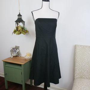 Ann Taylor Strapless A-Line Dress Cotton Silk Sz 6